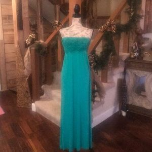 Long Aqua Blue Dress